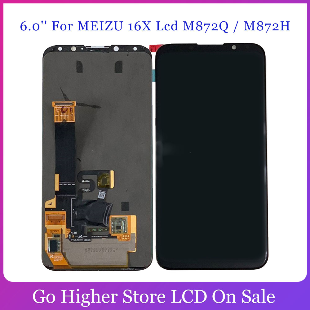 6.0'' For <font><b>MEIZU</b></font> <font><b>16X</b></font> Lcd M872Q / M872H <font><b>Display</b></font> Touch Panel Glass Assembly Phone Repair Part image