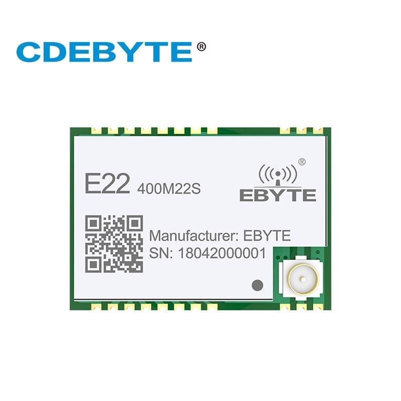 Ebyte E22-400M22S SX1268 433MHz LoRa Iot Wireless RF Module 22dBm SMD IPEX Stamp Hole Radio
