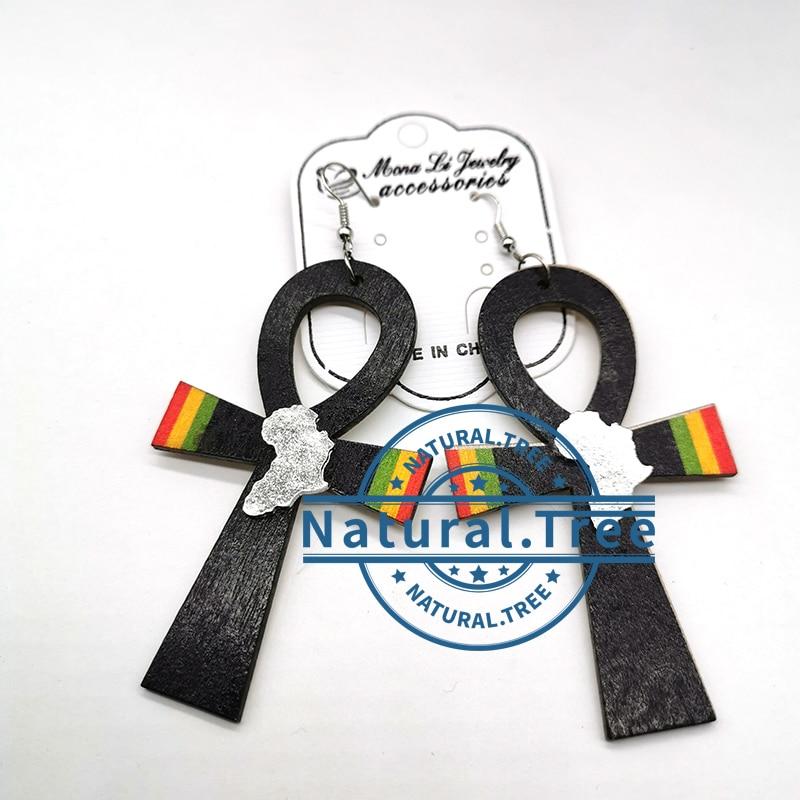 2020 Ankh Africa wooden earrings