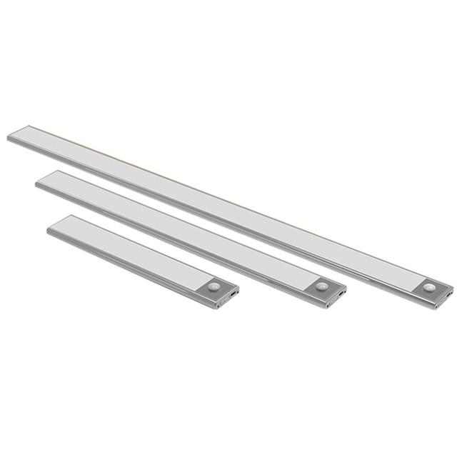 23/40/60CM PIR Motion Sensor LED Under Cabinet Light USB Rechargeable Wardrobe Closet Night Light For Kitchen Indoor Wall lamps 1