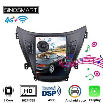 комплект адаптеров hyundai elantra md sedan2011 н в Sinosmart Tesla Style Car GPS Radio Navigation Player for Hyundai Elantra 2012 I35 Avante MD 2011-2013