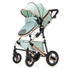цены High landscape baby stroller lightweight folding ultra light sit-lay portable child baby stroller simple umbrella cart