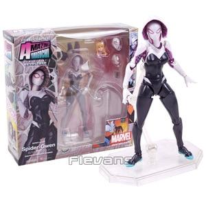Image 1 - Marvel Revoltech Spiderman Gwen Stacy Deadpool Venom Iron Man Wolverine Magneto Kapitän Amerika Carnage Action Figur Spielzeug