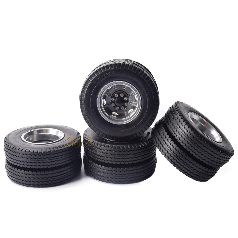 2P Tractor Truck Aluminum Rear Wheels for Tamiya 1:14 Tractor Truck Car titanium
