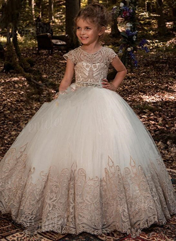 2020 Flower Girls Dresses For Girls First Communion Dresses Communion Party Prom Princess Pageant