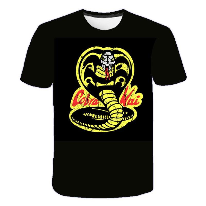 6-19 лет для детей-подростков одежда тайский ядовитая змея Кобра Кай футболка с о-образным вырезом, повседневные Топы И Футболки Для маленьки...