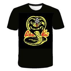Crianças da moda roupas tailandesas cobra venenosa kai t camisa adolescentes crewneck casual topos & t meninos impressão 3d engraçado camiseta