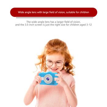 Aparat fotograficzny dla dzieci aparat cyfrowy 3 5 cala aparat fotograficzny dla dzieci zabawki prezent urodzinowy dla dzieci 12MP 1080P aparat fotograficzny dla dzieci tanie i dobre opinie OLOEY Naprawiono ostrości CN (pochodzenie) Podwójna Stabilizacja Obrazu Rozpoznawania twarzy Hd (1280x720) 2 3 cali 4 5-54mm