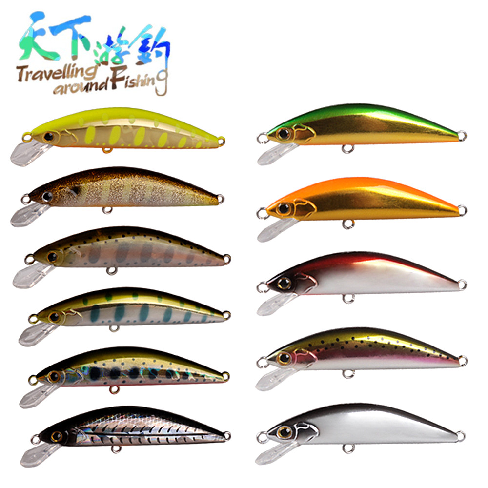 TAF Sinking Minnow 5.5cm 4.6g Quality Hard Fishing Lure with France VMC Hook ABS Plastic Isca Artificial Bait 3D Eyes Wobblers