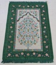 Islam tapete de oração muçulmano tapete de oração portátil dobrável árabe sejadah tapete padrão aleatório