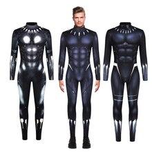 Black Panther Jumpsuit Cosplay Costume Bodysuit Zentai Suit Halloween