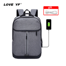 2019 new fashion backpack boys girls students backpack USB smart backpack 15.6-inch laptop bag Oxford cloth backpack mochila