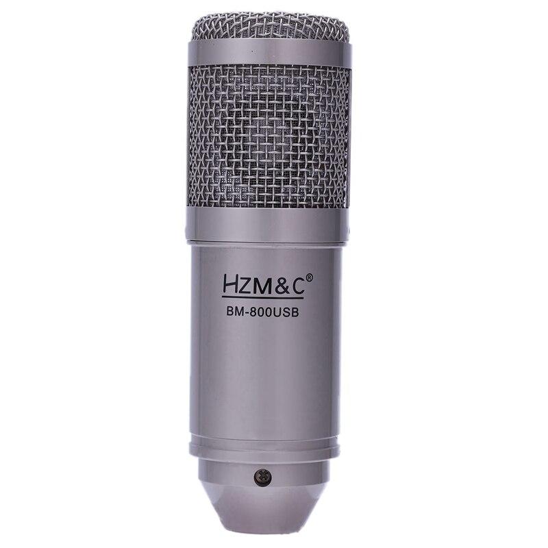 HZM&C Upgraded Bm 800 Usb Condenser Microphone Studio Mic For Computer Recording Karaoke Pc