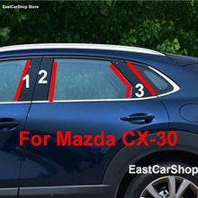Para mazda CX-30 cx 30 2020 2021 2019 porta do carro janela coluna meio guarnição decoração tira de proteção pc adesivos acessórios