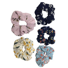 5Pcs/lot Fine Cheap Velvet Elastic Hair Bands Scrunchy Hair Rope Ponytail Female For Women Girls Hair Grooming Accessories 1111(China)