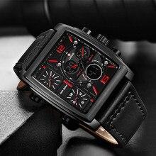 KADEMAN Men Watches Sport Digital Military Square Watch Waterproof Male 3 Time Zones Display Quartz Wristwatch Relogio Masculino все цены