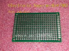 Free shipping 100pcs/lost  PCB 4x6cm 4*6 cm Double Side Prototype PCB Diy Universal Printed Circuit Board