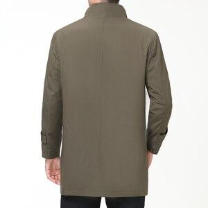 Image 4 - Chaquetas informales para hombre Mu Yuan Yang, primavera y otoño, gabardina larga para hombre, novedad de 2018, gabardinas y chaquetas con cremallera