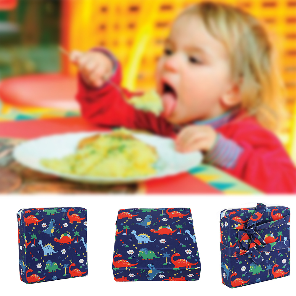 Dismountable Baby Booster Cushion Soft Mat Non Slip Kid Heightening Chair Pad Cartoon Dining Square Toddler Washable Thick