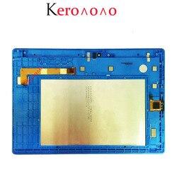 ЖК-дисплей с дигитайзером на Lenovo Tab 3 10 Plus, 10,1 дюйма, ЖК-дисплей с матрицей, сенсорный экран в сборе, с рамкой