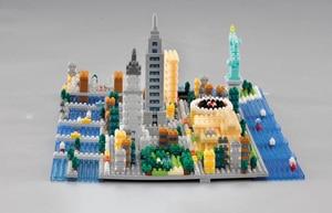 Image 4 - Weagle 2550 estátua de arquitetura da nova iorque, cidade de liberdade, império, edifício 3d, modelo diy, diamante, mini blocos de brinquedo sem caixa