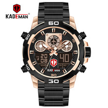 купить KADEMAN Top Luxury Brand Men's Watch Military Sports Digital Watches Waterproof LED Male Quartz Wristwatches Relogio Masculino по цене 1361.89 рублей