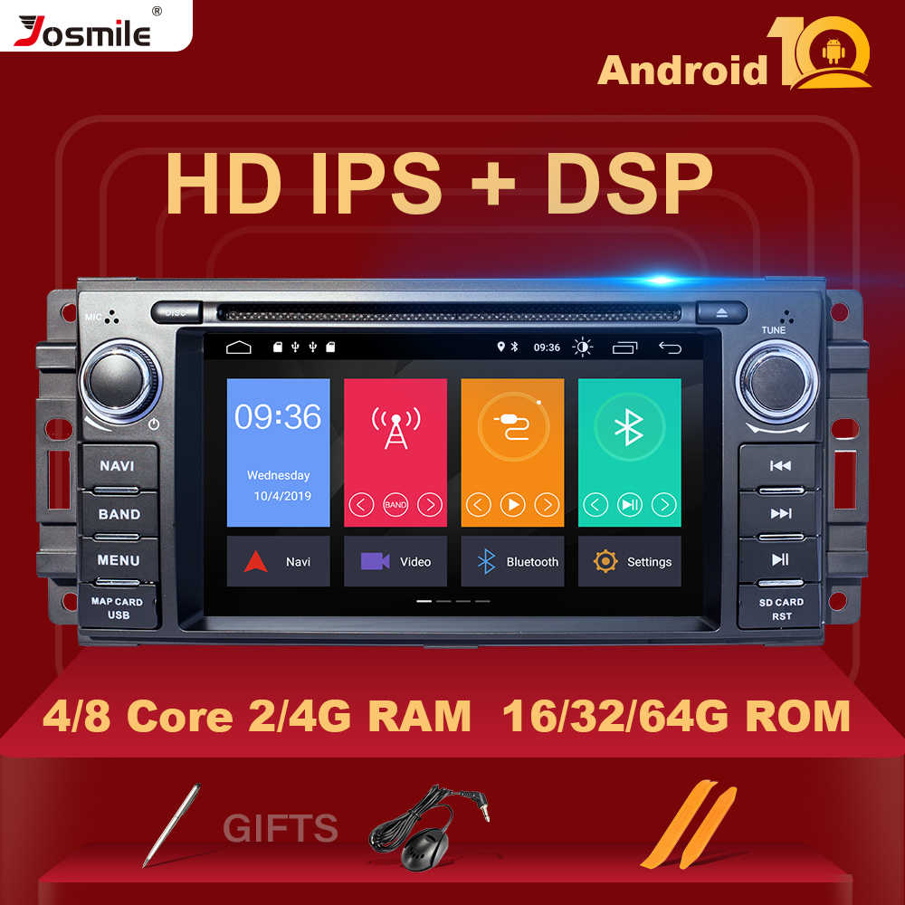 DSP IPS 8 core 4GB Ram Android 10, reproductor de DVD de coche para Jeep Grand Cherokee Chrysler 300C Compass Patriot Dodge Sebring GPS Stereo
