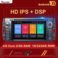 DSP IPS 8 core 4GB Ram Android 10 Car DVD Player For Jeep Grand Cherokee Chrysler 300C Compass Patriot Dodge Sebring GPS Stereo