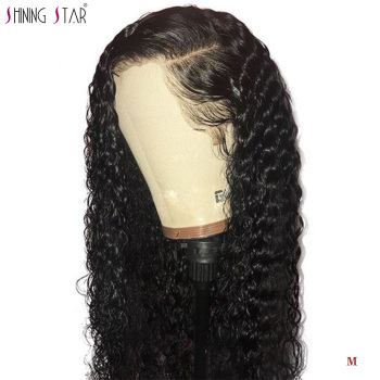 Mongolian Kinky Curly Human Hair Wigs 13*4 Long Lace Front Human Hair Wigs For Women 150% Pre Plucked Shiningstar Remy Hair Wigs