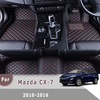 RHD Carpets For Mazda CX-7 cx7 2016 2015 2014 2013 2012 2011 2010 Car Floor Mats Auto Covers Accessories Custom Rugs image