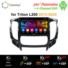 Ownice 360 Panorama Android 9.0 8 Core CarPlay รถวิทยุ DVD GPS Navi Player DVD 4G DSP Optical สำหรับ triton L200 2015-2020(China)