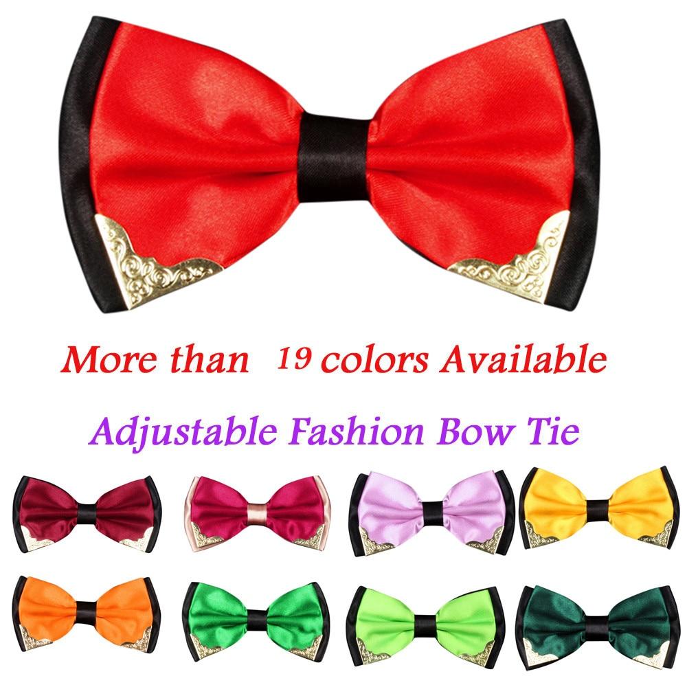 Luxury Hearts I Love You Solid Color Bowtie Silk Neck Tie Neckwear