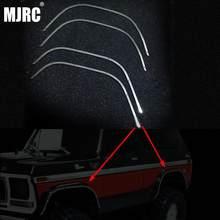 Juego de tiras decorativas de cejas para rueda de Metal, para Bronco, DJ, Traxxas, TRX4, TRX, 4 ruedas, arco a prueba de arañazos, piezas de coche RC, 1 Juego
