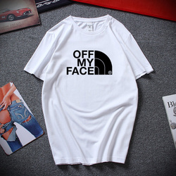 Off My Face Funny Mens Techno T-shirt North Music House Printed Tee High Quality Cotton Short Sleeve Tshirt men