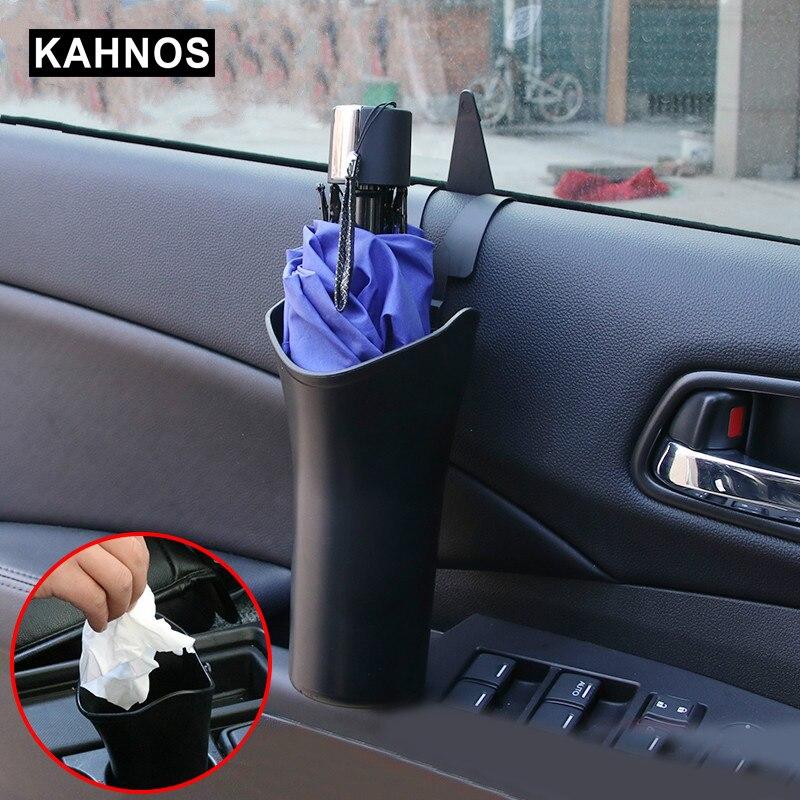 2 en 1 voiture porte-parapluie porte-bouteille d'eau crochet suspendu pour parapluie multifonctionnel rangement organisateur voiture accessoires