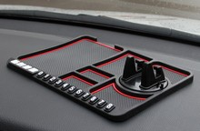 Multifunctional Car Anti-Slip Mat Auto Phone Holder Non Slip Sticky Anti Slide Dash Phone Mount Silicone Dashboard Car Pad Mats car sticky silicone anti slip mat for cell phone yellow