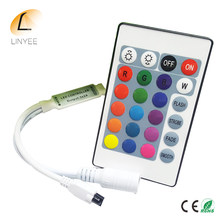 Mini 24key Remote Kontrol IR LED RGB Strip DC 12 V 24 Kunci Controller untuk SMD 3528 5050 2835 LED lampu Strip(China)