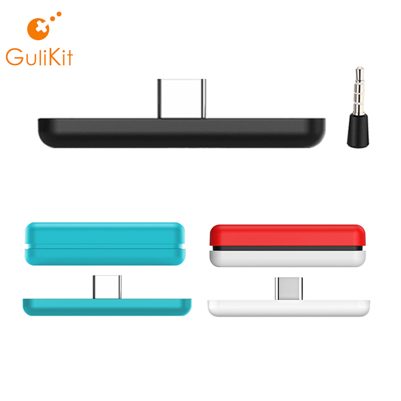 GuliKit NS07 Route Air Bluetooth Wireless Audio Adapter Type-C Transmitter for Nintend NS Switch/Switch Lite/PS4/PC