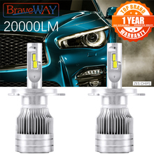 Brightest LED Car-Headlight-Bulbs Fog Lamps Motorcycle-Light HB4 Braveway Auto H11 HB3