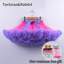 Модная юбка-пачка девочек яркая детская одежда Вечерние пышные детские юбки-американки принцесс танцевальный костюм балета для детей от 0 до 16 лет