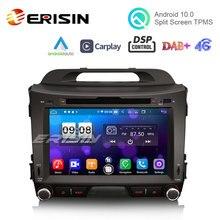 Erisin Radio Multimedia ES8733S con GPS para coche, Radio con DVD, CarPlay, Auto, 4G, WiFi, DSP, TPMS, DVR, Android 10,0, para Kia Sportage