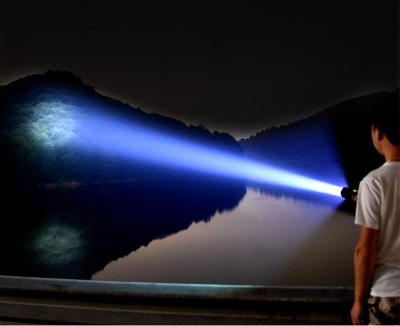 Lanterna à prova d'água portátil, poderosa, tocha