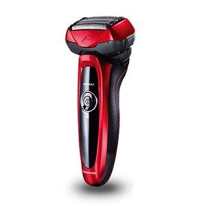 Image 3 - Panasonic masculino barbeador elétrico ES LV64 inteligente 5 flutuante cortador cabeça suporte corpo lavável recarregável baixa bateria exibição