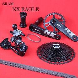 Sram nx eagle 12 velocidade mtb bicicleta groupset kit dub gatilho shifter desviador de corrente com sx nx eagle 11-50t cassete