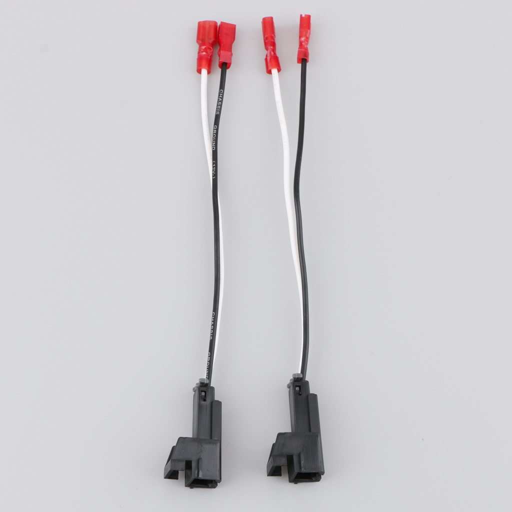 Pair Car Speaker Wires Harness Adapter Plug For Chevrolet Buick Hummer