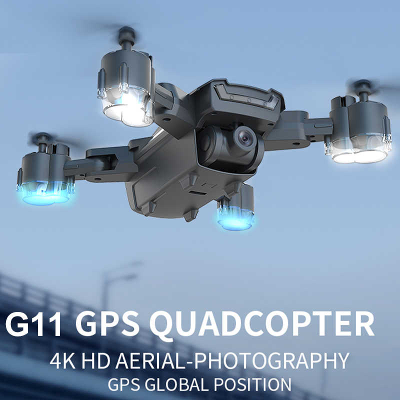 HGIYI G11 GPS RC Drone 4K kamera hd Quadcopter przepływ optyczny WIFI FPV z 50 razy Zoom składany helikopter profesjonalne drony
