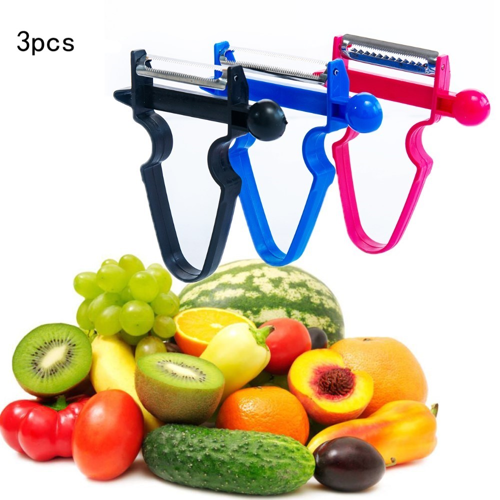 3pcs Slicer Shredder Peeler Julienne Cutter Multi Peel Stainless Grater Kitchen Tools Magic Trio Peeler Set(China)