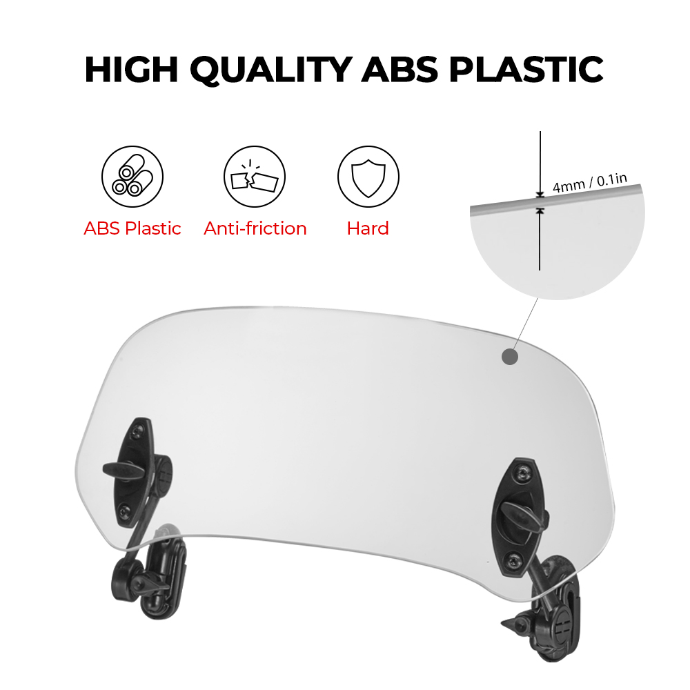 For Yamaha MT09 MotorcycleWindshied Universal Clamp-On Variable Windscreen Spoiler Extension For Yamaha Fz 400 F800gs Cruiser