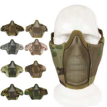 tactical full face mask hunting headgear balaclava mesh mask airsoft paintball game protective mask cs shooting ninja style mask Airsoft Paintball Mask Half Face Tactical Combat Masks Protective Shooting Hunting CS Wargame Mask Hunting Accessories