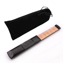 Pocket Guitar 6 String 4 Fret Training Skills Lightweight Practice Tool Pratical Mini Portable